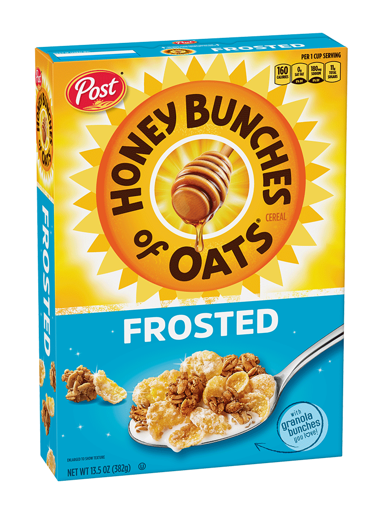 Honey Bunches of Oats Frosted Cereal Box
